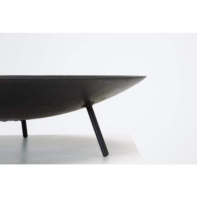 Black Large Modernist Fire Pit or Brazier with Tripod Base For Sale - Image 8 of 11