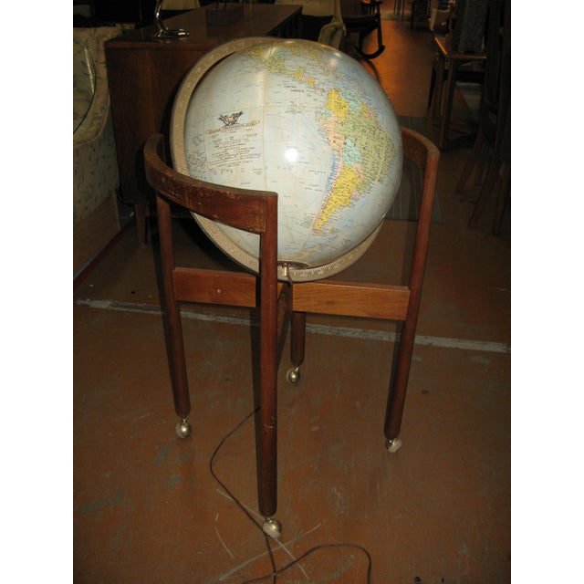 Jens Risom Sculptural Walnut Globe on Casters - Image 8 of 11