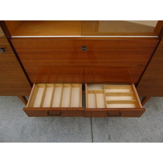 Tan Mid-Century Modern German Bar Cabinet -Shrunk For Sale - Image 8 of 13