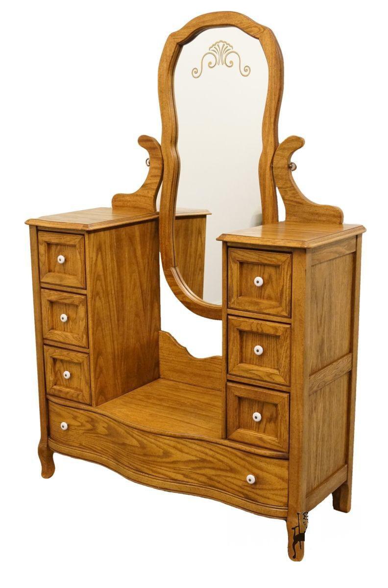 Late 20th Century Vintage Pulaski Furniture Keepsakes Collection Oak