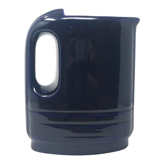 1940 Hall China Streamline Cobalt Blue Hercules Water Pitcher For Sale