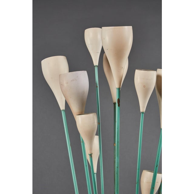 """1950s Large """"Calla"""" Floor Lamp in the Manner of Angelo Lelii for Arredoluce For Sale - Image 5 of 8"""