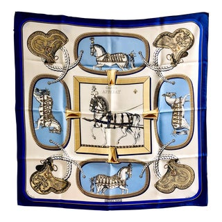 1962 Jacques Eudel Hermès Grand Apparat Silk Scarf For Sale