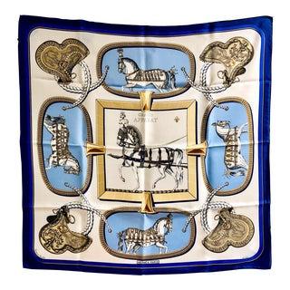1962 Jacques Eudel Hermès Grand Apparat Silk Scarf For Sale