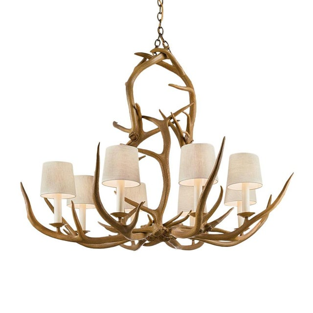 Natural Antler Pendant Light For Sale - Image 4 of 4