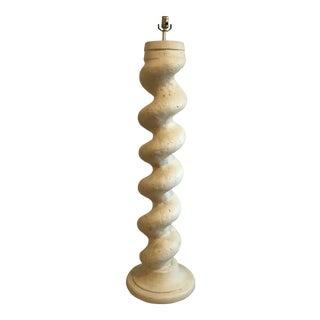 Vintage Michael Taylor for Baker Spiral Column Plaster Floor Lamp For Sale