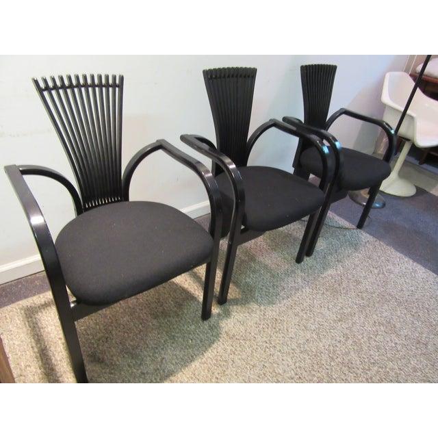 """Westnofa Furniture Torstein Nilsen for Westnofa """"Totem"""" Chairs - Set of 3 For Sale - Image 4 of 11"""