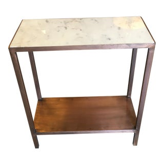 Marble Topped Side Table For Sale