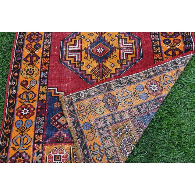 Antique Nomadic Hand-Knotted Anatolian Carpet - 3′10″ × 5′9″ For Sale In San Francisco - Image 6 of 6