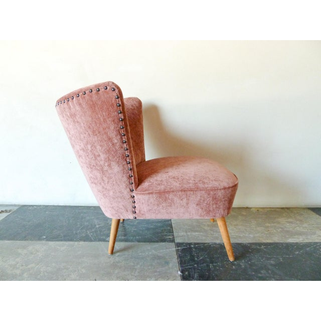 Mid-Century Modern 1950s Danish Cocktail Chair For Sale - Image 3 of 6