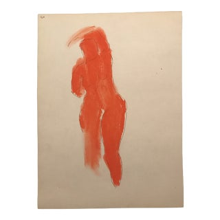 1960s Modern Pastel Figure Study Drawing For Sale