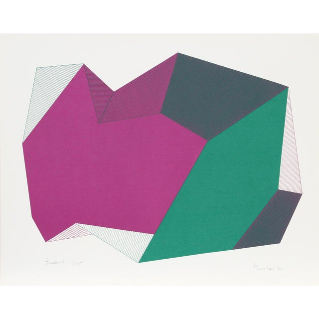 """Abstract """"Breakout"""" Serigraph by Jean-Marie Haessle, 1980 For Sale - Image 3 of 3"""