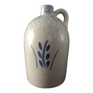 Robinson Ransbottom Pottery Co. Spongeware Wheat Design Jug