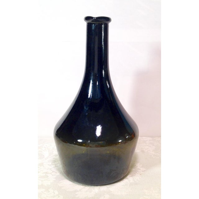 Vintage Italian Dark Green Wine Bottle For Sale - Image 5 of 8
