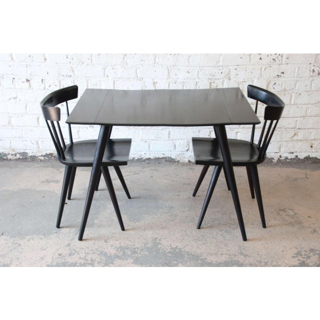 Birch Paul McCobb Planner Group Ebonized Dinette Table For Sale - Image 7 of 10