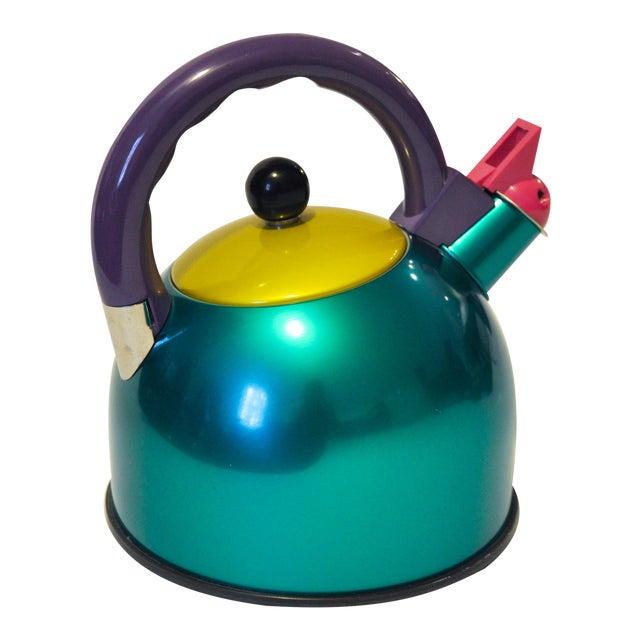 Memphis Era Color Block Teapot For Sale