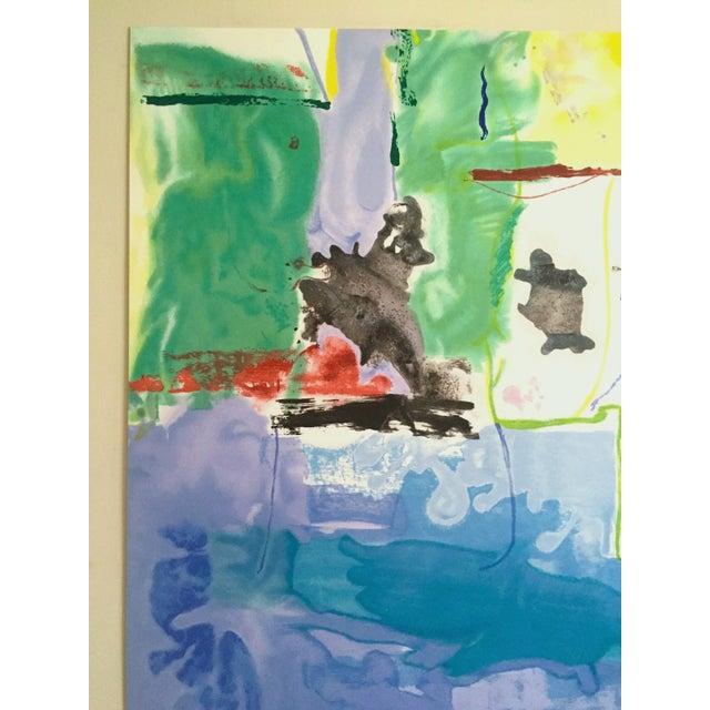 "Various Artists Helen Frankenthaler Rare Ltd Edtn Hand Pulled Original Silkscreen Print "" West Wind "" 1996 For Sale - Image 4 of 13"