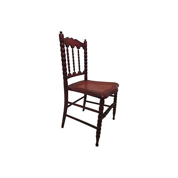 Add some timeless charm to your child's room with this antique chair. This walnut child's chair is very durable and solid,...
