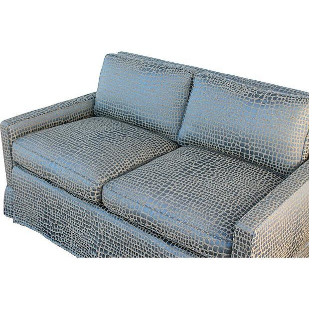 Faux Crocodile Sofa & Club Chair - Image 3 of 7