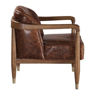 Distressed Leather Club Chair Preview