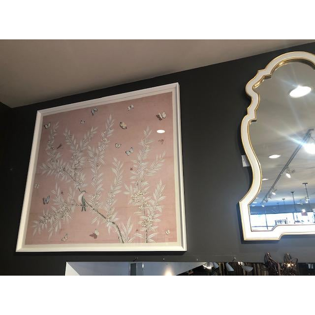 Asian Chinoiserie Art in Blush For Sale - Image 3 of 5