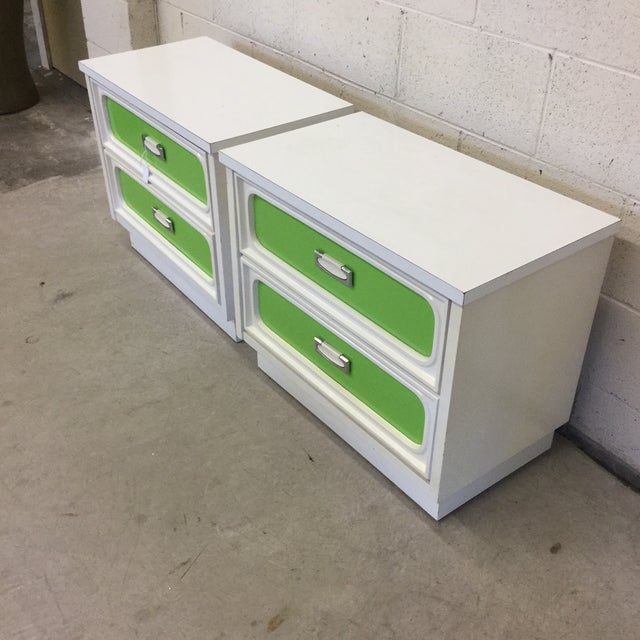 See the listing for the matching 9 drawer dresser if you would like! The 70s called and wants its night stands back!...