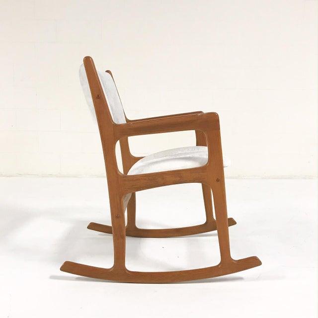Mint Condition Danish Benny Linden Teak Rocking Chair