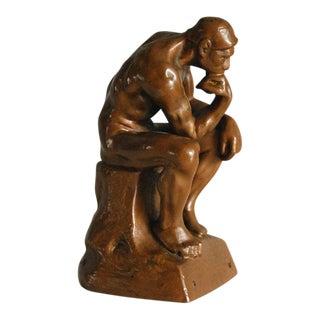 Vintage The Thinker Cast Metal Statue