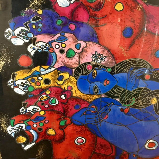 """Asian """"Panthers"""" by Jiang Tiefeng For Sale - Image 3 of 6"""