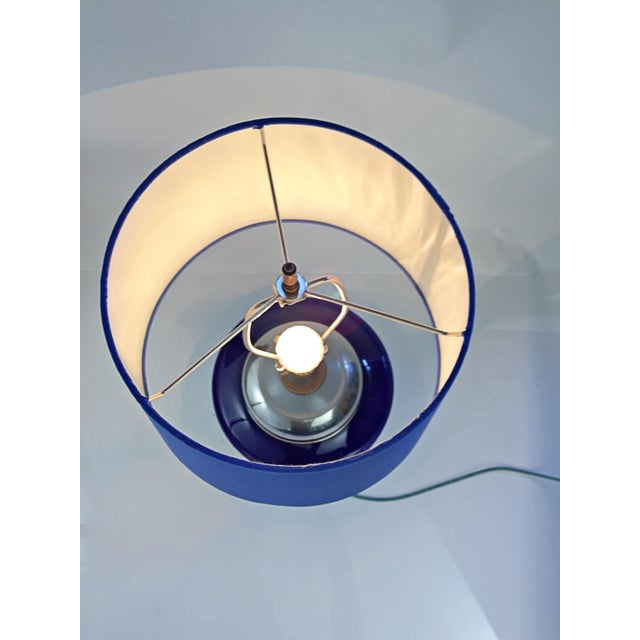 Art Glass Table Lamp in Multiple Colors of Blue For Sale - Image 7 of 12