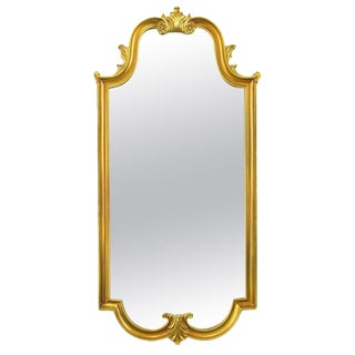 Gilt Composite Wood & Gesso Empire Style Wall Mirror For Sale