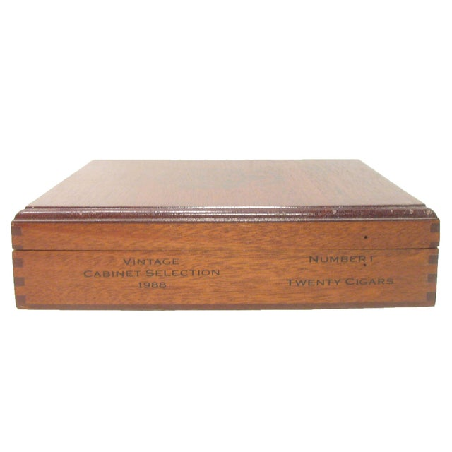 Hollywood Regency Jamaican Vintage Mahogany Cigar Box For Sale - Image 3 of 5