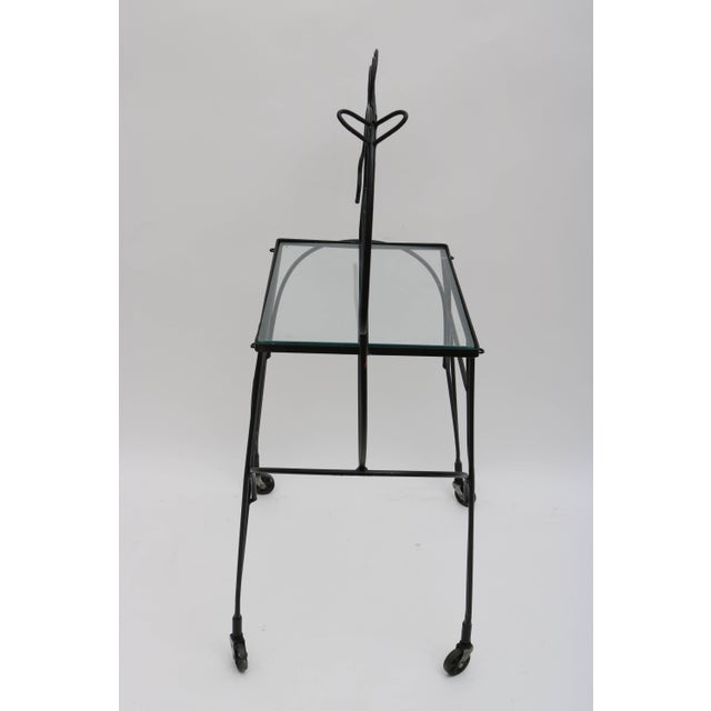Frederick Weinberg Mid-Century Modern Horse-Form Bar Cart by Frederick Weinberg For Sale - Image 4 of 9
