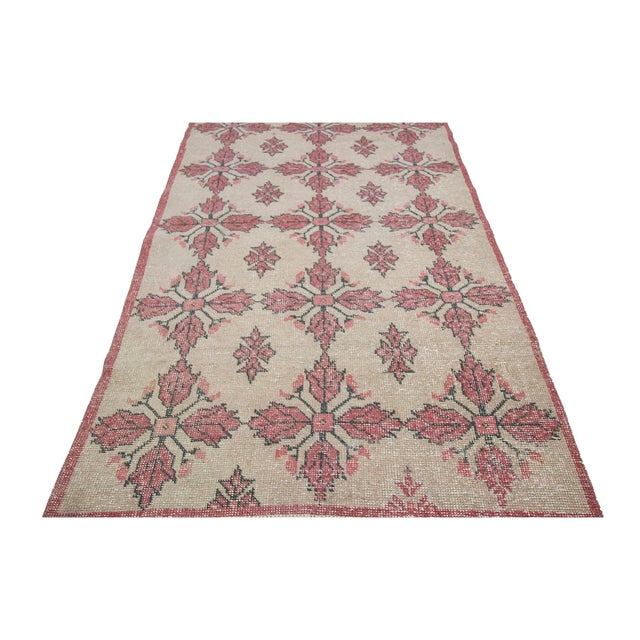 Vintage decorative area rug from Konya region of Turkey. Approximately 50-60 years old. In very good condition