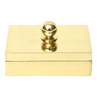 Brass Box With Ball 2 Part Vintage For Sale