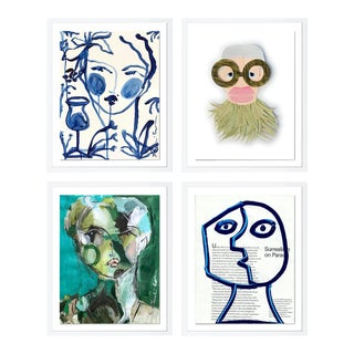 Contemporary Portraiture Gallery Wall - Set of 4 For Sale