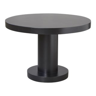 Modern Puristic Oak Center Table in New Black Finish, 1960s For Sale