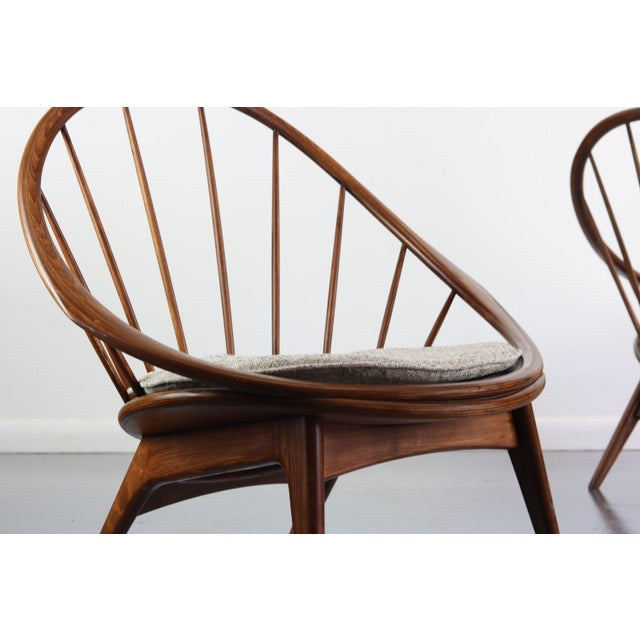 Ib Kofod-Larsen for Selig Hoop Chairs - a Pair of Two (2) For Sale In Orlando - Image 6 of 7