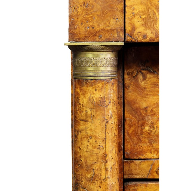 Brown Charles X Burl Elm Commode For Sale - Image 8 of 13