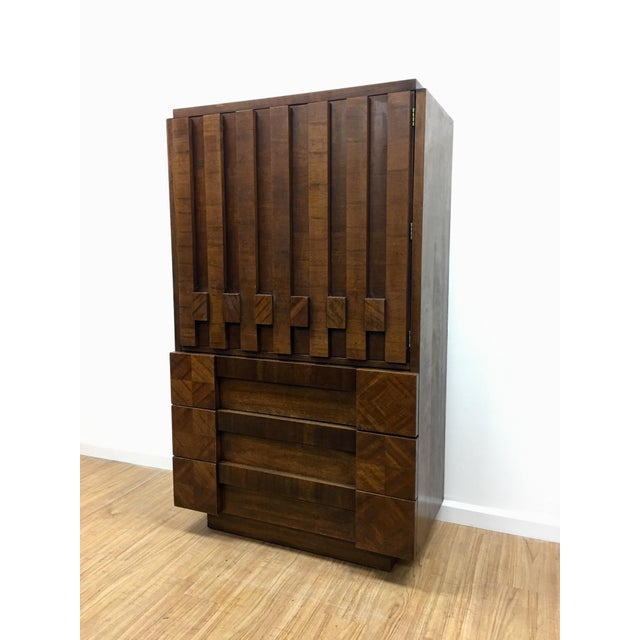 Brutalist Armoire by Lane For Sale - Image 9 of 13