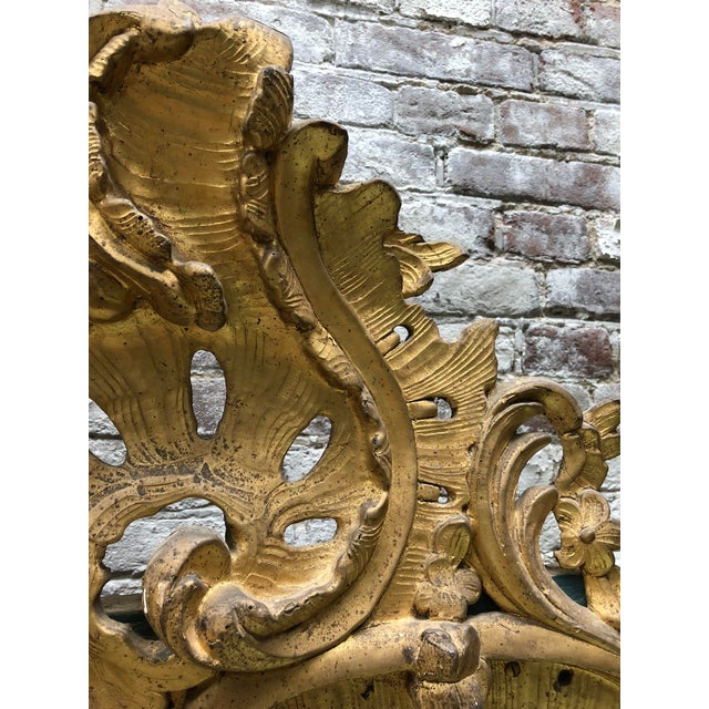 Gold 18th Century Louis XV Mirror For Sale - Image 8 of 11