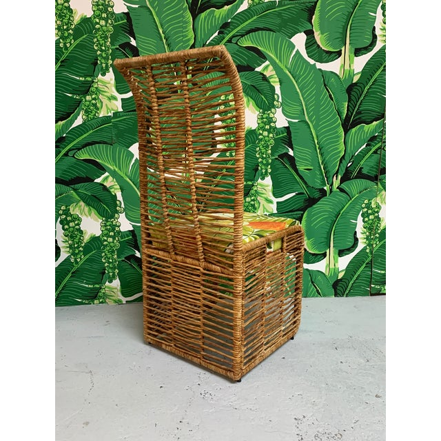 Rattan Jute Rope Wrapped Dining Chairs, Set of 6 For Sale - Image 4 of 13