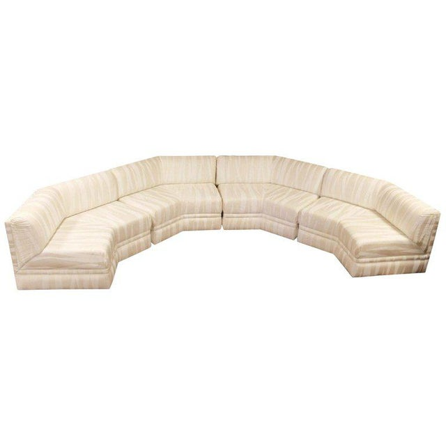 Mid-Century Modern Four-Piece White Octagon Sectional Sofa Baughman, 1970s For Sale - Image 13 of 13