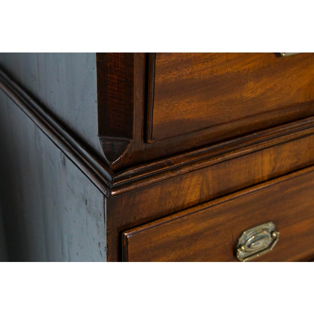 Late 19th Century 1870s English Traditional Mahogany Chest on Chest For Sale - Image 5 of 8