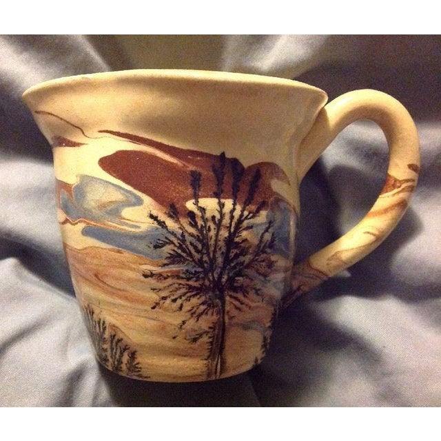 Ceramic Sevierville Pottery Tennessee Art Pottery Creamer Tree & Sky Motif For Sale - Image 7 of 7