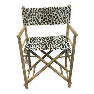 Folding Leopard Print Safari Chair