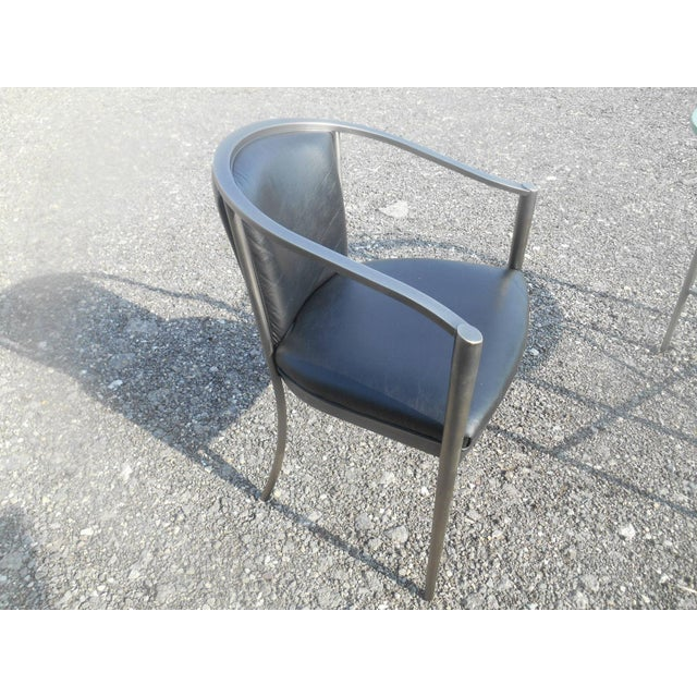 1970s 1970s Modern Design Institute America Nickel Dining Set - 5 Pieces For Sale - Image 5 of 8