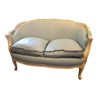 Antique Louis XV Shabby Chic Style Settee For Sale