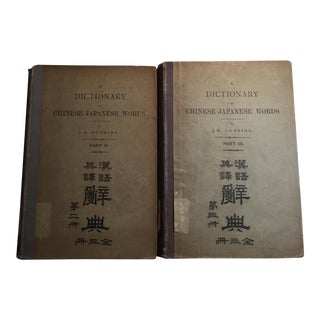 1908 Dictionary of Chinese-Japanese Words - Set of 2