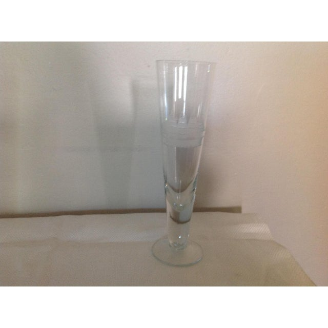 Nautical Ship Etched Glasses - Set of 5 For Sale - Image 3 of 4